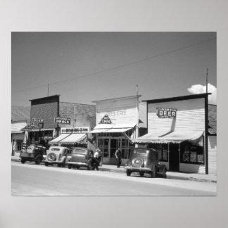 Lojas da rua principal, 1941 poster
