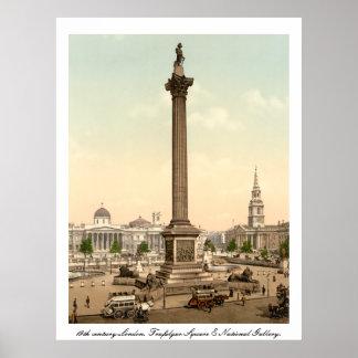 Londres antiga quadrado de Inglaterra, Trafalgar Poster