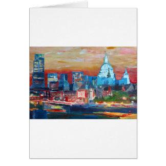 Londres com catedral de St Paul Cartão Comemorativo