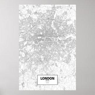 Londres, Inglaterra (preto no branco) Pôster