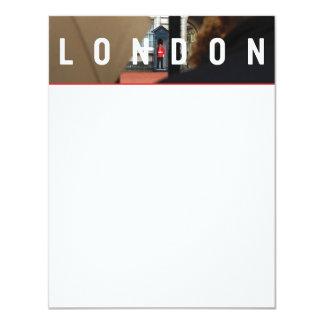 Londres NOTECARD LISO Convite 10.79 X 13.97cm