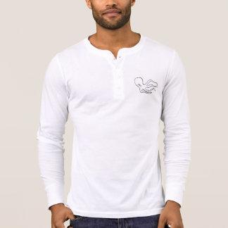 Longo-luva Henley da arte do polvo de San Pedro T-shirt