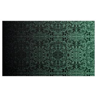 LOPc verde/preto do damasco de Ombre Tecido
