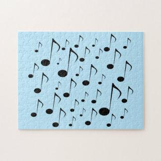 Lotes de notas musicais quebra-cabeça