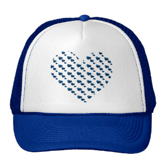 Lotes do amor (teste padrão) do coração (azul) bone