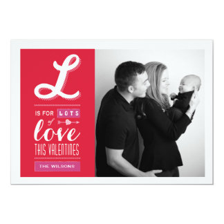 Lotes do cartão com fotos do dia dos namorados do convite 12.7 x 17.78cm