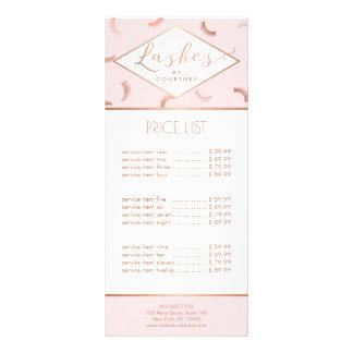 Lotes do rosa do salão de beleza do chicote do 10.16 x 22.86cm panfleto