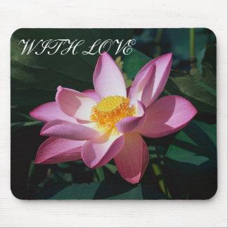Lotus cor-de-rosa mouse pad