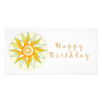 Lotus n Sun Chakra:  Design de GOODLUCK Cartão Com Foto