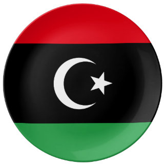 Louça Bandeira de Líbia