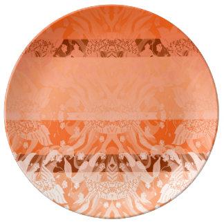 Louça base cor de laranja