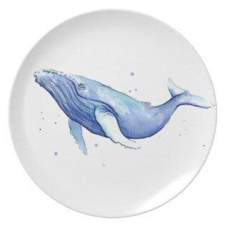 Louça da baleia da placa da melamina da baleia de prato