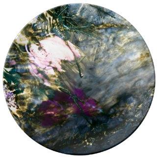 Louça De Jantar Flor abstrata na água