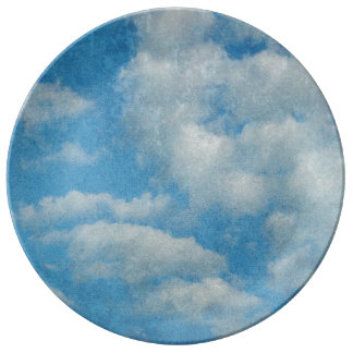 Louça De Jantar O vintage afligido nubla-se o fundo