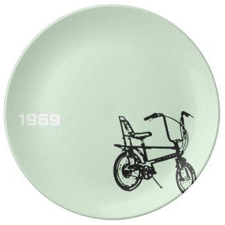 Louça De Jantar Placa 1969 da porcelana da bicicleta 3 do