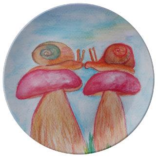Louça De Jantar Placa decorativa da porcelana do romance 27,3 cm