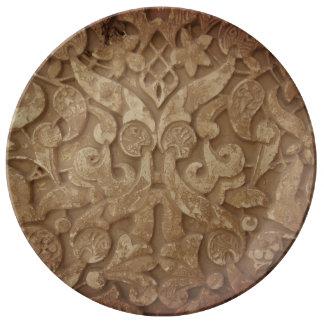 Louça De Jantar Placa decorativa sagrado da porcelana das memórias