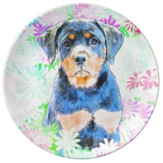 Louça Filhote de cachorro de Rottweiler