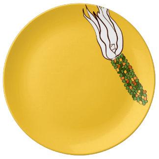 Louça Milho da queda: Placa decorativa da porcelana do