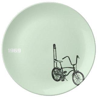Louça Placa 1969 decorativa da porcelana da bicicleta do