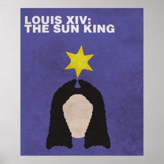 Louis XIV: Poster minimalista das figuras históric Pôster