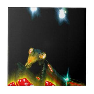 Louva-a-deus Praying do metal - 2.jpg Azulejo Quadrado Pequeno