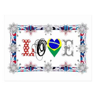 Love Brazil Cartão Postal