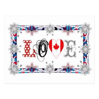 Love Canada Cartões Postais