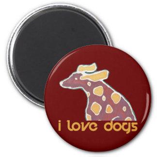 love dogs ímã redondo 5.08cm