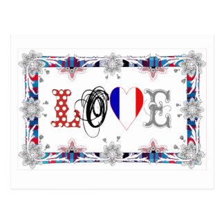 Love France Cartao Postal