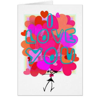LOVE-HEART para a mãe Cartão De Nota
