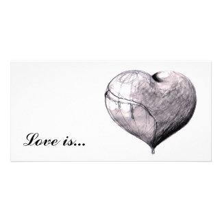 Love is… cartões com foto