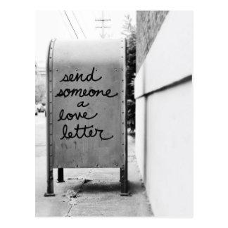 love letter cartões postais