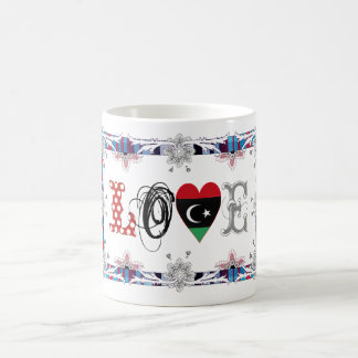 Love Libya Caneca De Café