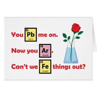 Love Story - estilo da química Cartão Comemorativo