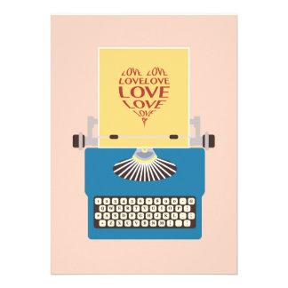 Love Typewriter, Greeting card Convite Personalizado