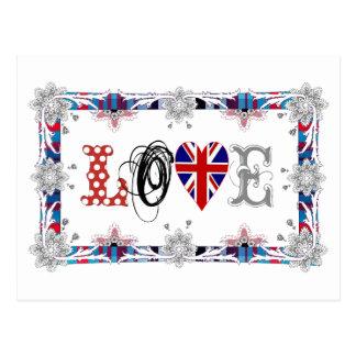 Love UK, Inglaterra/ Cartão Postal
