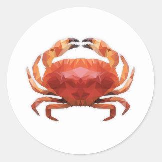 Low Poly Crab bordador Adesivo
