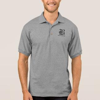 Lt Cinzento/preto da camisa do colar dos homens