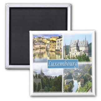 LU * Luxembourg Ímã Quadrado
