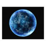 lua azul convite personalizados