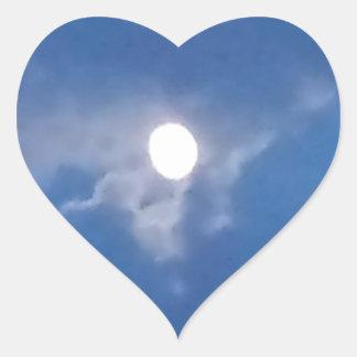 Lua cheia adesivo coração