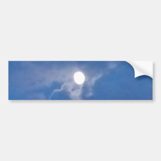 Lua cheia adesivo para carro