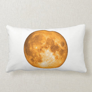 Lua cheia alaranjada almofada lombar