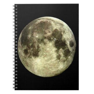 Lua cheia caderno espiral