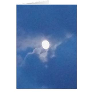 Lua cheia cartão comemorativo