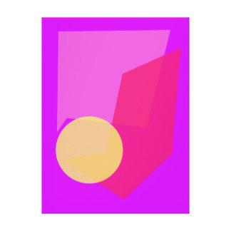 Lua cheia feita sob encomenda da cor do fundo impressão de canvas esticadas