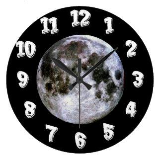 Lua cheia relógio para parede