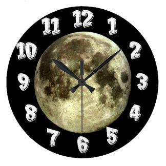 Lua cheia relógios de pendurar