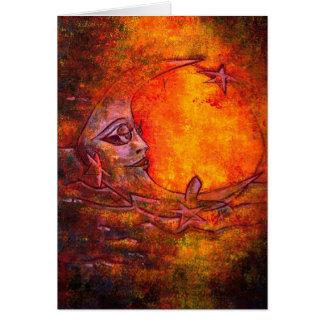 Lua de Caroliina - variedade vermelha da lua 01# Cartão Comemorativo